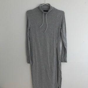 NWOT Kith gray long turtle neck tunic w side slit